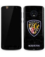 Baltimore Ravens - Alternate Distressed Moto G6 Skin
