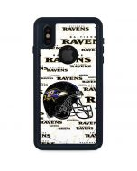 Baltimore Ravens - Blast iPhone XS Waterproof Case