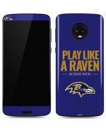 Baltimore Ravens Team Motto Moto G6 Skin