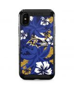 Baltimore Ravens Tropical Print iPhone XS Max Cargo Case