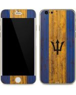 Barbados Flag Dark Wood iPhone 6/6s Skin