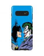 Batman vs Joker - Blue Background Galaxy S10 Plus Pro Case