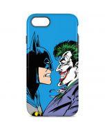 Batman vs Joker - Blue Background iPhone 8 Pro Case