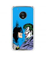 Batman vs Joker - Blue Background Moto G5 Plus Clear Case