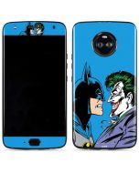 Batman vs Joker - Blue Background Moto X4 Skin