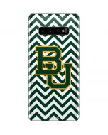 Baylor Chevron Print Galaxy S10 Plus Skin