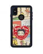 Betty Boop Comic Strip iPhone XS Waterproof Case