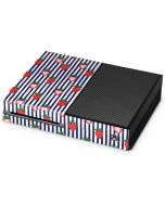 Strawberries and Stripes Xbox One Console Skin