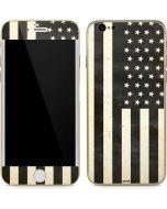 Black & White USA Flag iPhone 6/6s Skin