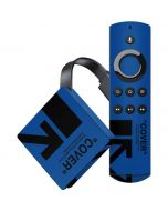 Black and Blue Arrows Amazon Fire TV Skin
