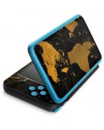 Black and Gold Scattered Marble 2DS XL (2017) Skin