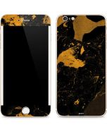 Black and Gold Scattered Marble iPhone 6/6s Plus Skin