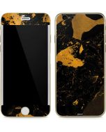 Black and Gold Scattered Marble iPhone 6/6s Skin