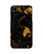 Black and Gold Scattered Marble iPhone XS Max Lite Case