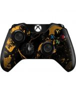Black and Gold Scattered Marble Xbox One Controller Skin