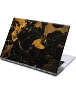 Black and Gold Scattered Marble Yoga 910 2-in-1 14in Touch-Screen Skin