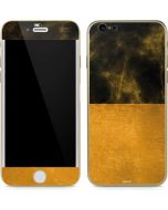 Black and Gold Split Marble iPhone 6/6s Skin