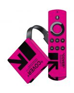 Black and Pink Arrows Amazon Fire TV Skin