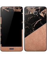 Black and Rose Gold Marble Split Galaxy Grand Prime Skin