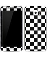 Black and White Checkered Galaxy S6 Edge Skin