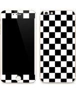 Black and White Checkered iPhone 6/6s Plus Skin