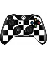 Black and White Checkered Xbox One Controller Skin