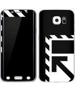 Black and White Geometric Shapes Galaxy S6 Edge Skin