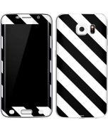 Black and White Geometric Stripes Galaxy S6 Edge Skin