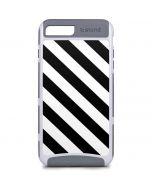 Black and White Geometric Stripes iPhone 8 Plus Cargo Case