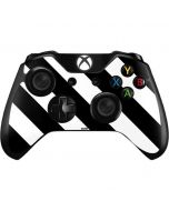 Black and White Geometric Stripes Xbox One Controller Skin