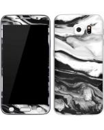Black and White Marble Ink Galaxy S6 Skin