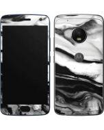 Black and White Marble Ink Moto G5 Plus Skin