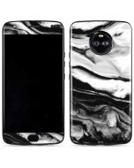 Black and White Marble Ink Moto X4 Skin