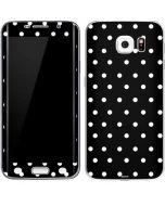 Black and White Polka Dots Galaxy S6 Edge Skin