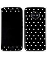 Black and White Polka Dots Moto X4 Skin