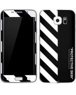 Black and White Stripes Galaxy S6 Edge Skin