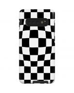 Black and White Zoomed Checkerboard Galaxy S10 Plus Pro Case