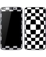 Black and White Zoomed Checkerboard Galaxy S5 Skin