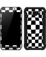 Black and White Zoomed Checkerboard Galaxy S6 Active Skin