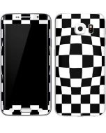 Black and White Zoomed Checkerboard Galaxy S6 Edge Skin