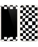 Black and White Zoomed Checkerboard iPhone 6/6s Plus Skin