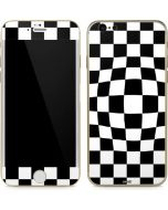 Black and White Zoomed Checkerboard iPhone 6/6s Skin