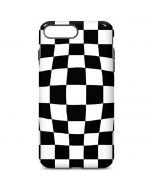 Black and White Zoomed Checkerboard iPhone 7 Plus Pro Case