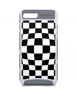 Black and White Zoomed Checkerboard iPhone 8 Plus Cargo Case