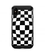 Black and White Zoomed Checkerboard iPhone XS Max Cargo Case