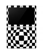 Black and White Zoomed Checkerboard Surface Go Skin