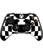 Black and White Zoomed Checkerboard Xbox One Controller Skin