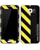 Black and Yellow Stripes Galaxy S6 Edge Skin