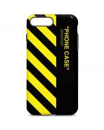 Black and Yellow Stripes iPhone 7 Plus Pro Case