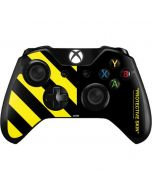 Black and Yellow Stripes Xbox One Controller Skin